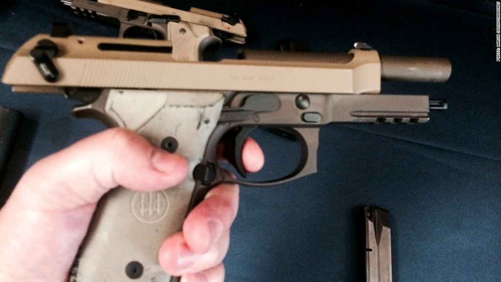 M9A3 Beretta finger on the trigger
