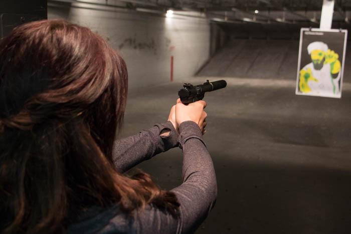 shooting suppressed 22 pistol