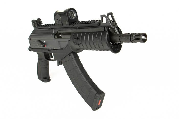 ACE pistol machine gun pin hole