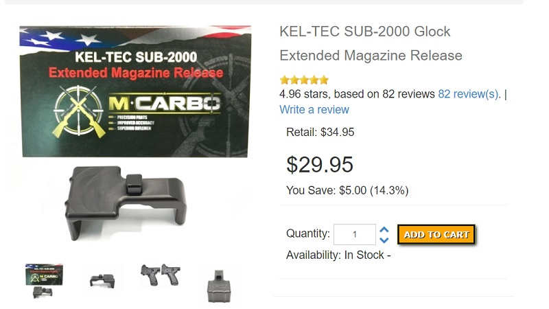 Kel Tec Sub 2000 Extended Mag Release