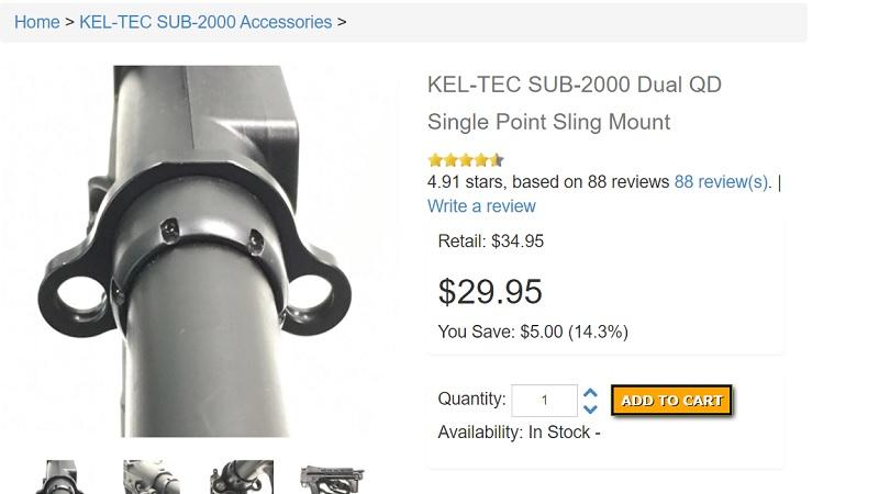 Kel-Tec Sub 2000 Sling Adapter