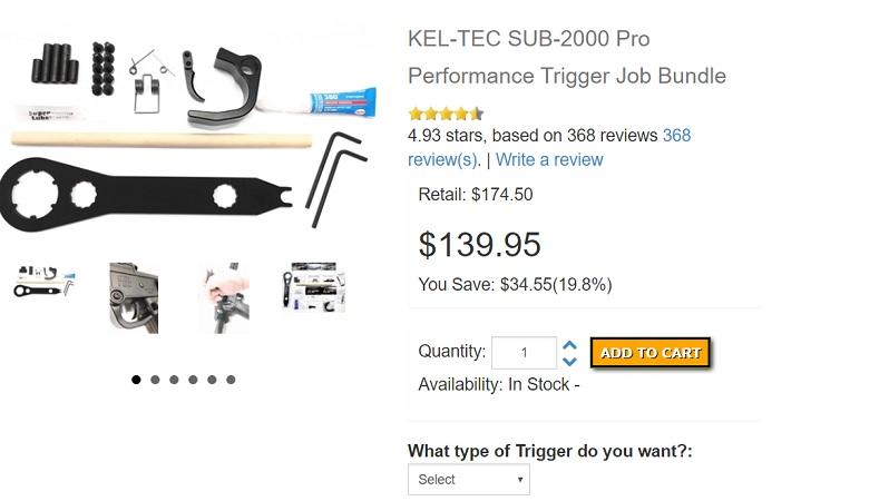 Kel-Tec Sub 2000 Trigger Kit