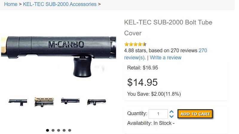 Kel Tec Sub 2000 Bolt Tube Cover