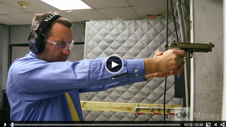 Beretta M9A3 being fired CNN reporter