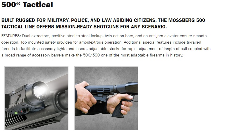 Mossberg 500 Tactical Webpage