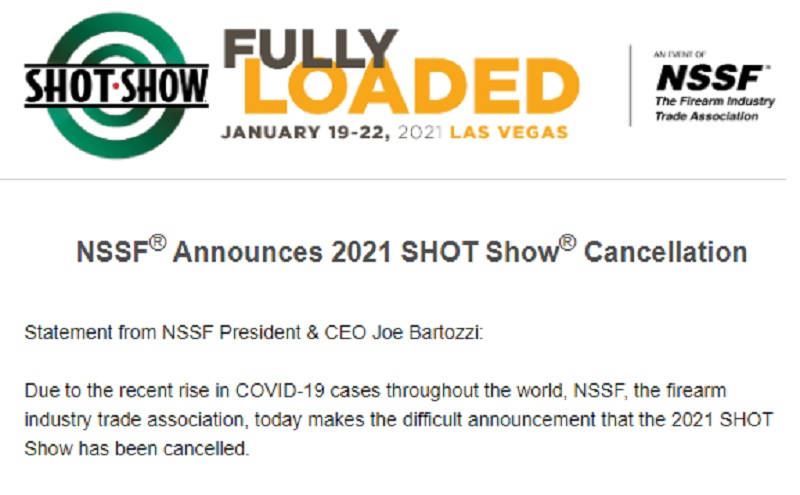 NSSF Shot Show Cancellation