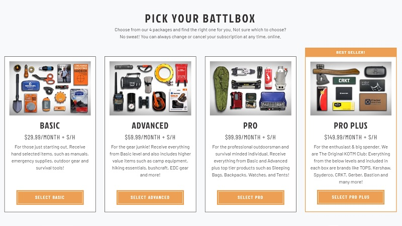 Subscription Boxes Battlbox