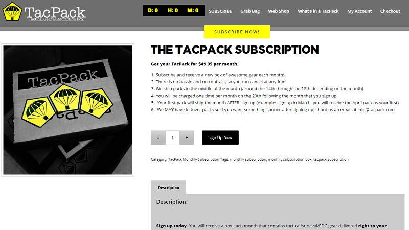 Subscription Boxes Tac Pack